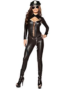Cosplay Kostýmy Kostým na Večírek Policie Kariéra kostýmy Festival/Svátek Halloweenské kostýmy Černá JednobarevnéLeotard/Kostýmový overal