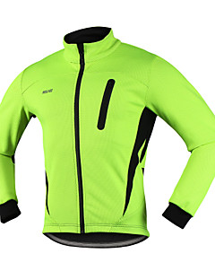 Arsuxeo Cycling Jacket Men's Bike Winter JacketBreathable Thermal / Warm Windproof Anatomic Design Waterproof Zipper Reflective Strips