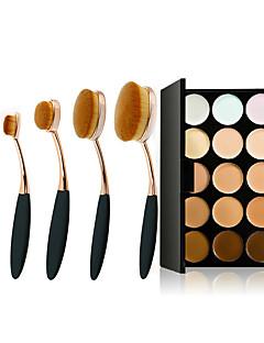 15 Correcteur/ContourPinceaux de Maquillage Humide VisageCouverture Correcteur Tonalité Inégale de la Peau Naturel Reserrement des Pores