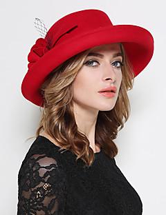 Žena Vlna Vintage / Party / Na běžné nošení Jaro / podzim / Zima Bucket klobouček