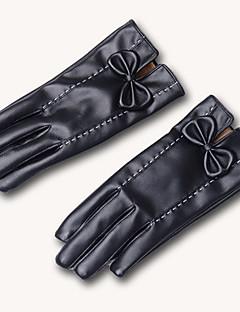 kvinder pu fingerspidserne håndled længde, solid afslappet vinter