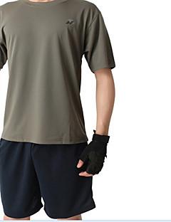 Corrida Camiseta Homens Manga Curta Secagem Rápida / Confortável ModalPesca / Exercicio e Fitness / Esportes Relaxantes / Ciclismo/Moto /