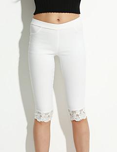 Pantaloni Da donna Skinny Attillato Pizzo/Misto cotone Elasticizzato
