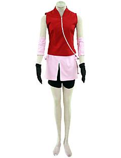 Ihlette Naruto Szerepjáték Anime Szerepjáték jelmezek Cosplay ruhák Egyszínű Kabát Szoknya Ujj Kesztyűk Rövidnadrágok Kompatibilitás Nő