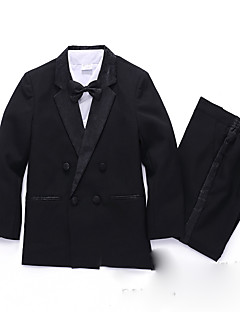 Комбинирование ткани (полиэфир/хлопчатник) Детский праздничный костюм - 5 Куски Включает в себя Рубашка / Жилет / Галстук-бабочка