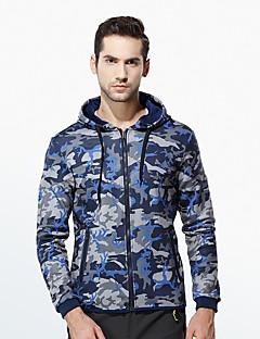 Masculino Jacket Hoodie Casual Esportivo Activo Fofo Sólido Estampado Decote V Forro de Lã Algodão Micro-Elástico Manga LongaOutono
