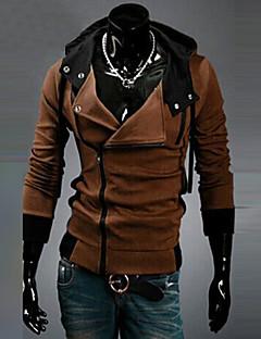 Masculino Sets activewear Casual/Esporte/Tamanhos Grandes Cor Solida Misto de Algodão Manga Comprida Masculino