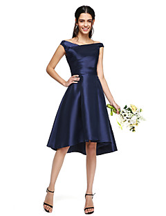 2017 Lanting bride® asymetrické mikádo elegantní družička šaty - a-řádek off-the-rameno s bočním zavěšovat