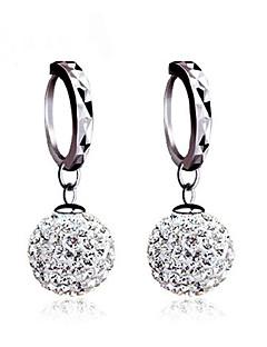 Dame Øredobber ball øredobber Øredobb Enkelt design Klassisk Sølv Kubisk Zirkonium Fuskediamant Ball Smykker Til Bryllup Fest Daglig