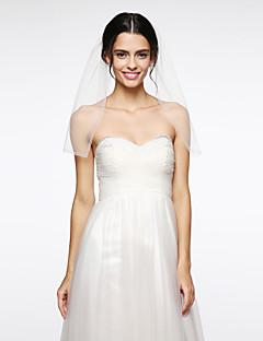 Véus de Noiva Uma Camada Véu Ombro Rede