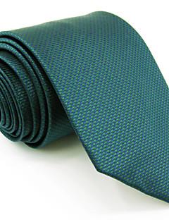 Krawat-Dla mężczyzn-Vintage / Urocza / Imprezowa / Do biura / Na co dzień-Rayon-Jendolity kolor-Zielony