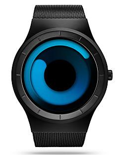 SINOBI Herrn Sportuhr Armbanduhr Einzigartige kreative Uhr Quartz Wasserdicht Schockresistent Edelstahl Band Bequem Luxuriös Schwarz