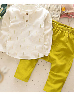 Boy's Casual/Daily Solid Clothing SetCotton Spring / Fall Yellow / Gray