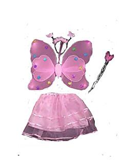 Cosplay Kostüme Märchen Santa Anzüge Fest/Feiertage Halloween Kostüme Rosa einfarbig Kleid Weihnachten Kindertag Silvester KindPolyester