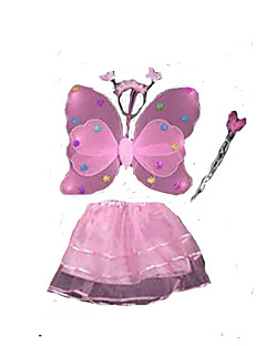 Cosplay Kostuums Sprookje Kerstmanpakken Festival/Feestdagen Halloweenkostuums Roze Effen Kleding Kerstmis Kinderdag Nieuwjaar Kind