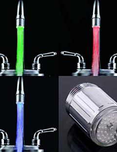 rc-F902 stijlvolle waterstroom kleurrijke lichtgevende LED verlichting kraan licht (plastic, chroom afwerking)