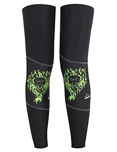 다리 따뜻하게 자전거 보온 편안함 보호하는 남녀 공용 블랙 LYCRA®