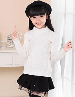 Mädchen Pullover & Cardigan Ausgehen Lässig/Alltäglich einfarbig Baumwolle Winter Frühling Herbst Lange Ärmel Normal