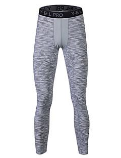 Homens Meia-calça Calças Ioga Exercício e Atividade Física Corrida Respirável A Prova de Vento Compressão Redutor de Suor Confortável