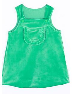 bebê Top e Camisete-Casual Cor Única-Algodão-Outono-Verde