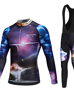 AOZHIDIAN Spring/Summer/Autumn Long Sleeve Cycling JerseyLong Bib Tights Ropa Ciclismo Cycling Clothing Suits #AZD040