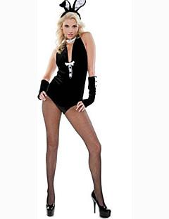 Στολές Ηρώων Κοστούμι πάρτι Λαγουδάκια κορίτσια Κοστούμια καριέρας Στολές Ηρώων Ταινιών Μαύρο ΜονόχρωμοΦορμάκι/Ολόσωμη φόρμα Καλύμματα