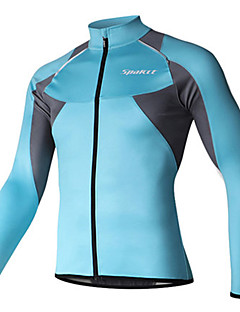 SPAKCT Cycling Jersey Men's Long Sleeve Bike Jersey Thermal / Warm Quick Dry Windproof Breathable Comfortable 100% Polyester Patchwork