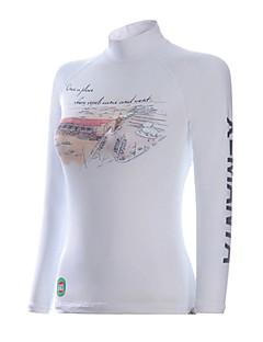 Dive&Sail Naisten 1mm Dive Skins Märkäpuvun yläosa Märkäpuvut Kuivapuvut Vedenkestävä Pidä lämpimänä Nopea kuivuminen