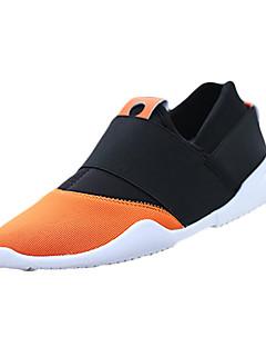 Men's Loafers & Slip-Ons Spring Fall Comfort Fabric Casual Flat Heel Split Joint Black Dark Blue Orange Walking