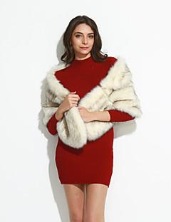 Dámské Klub Party/Koktejl Sexy Vintage Plášť / Capes-Umělá kožešina Zima Bez rukávů Hnědá Střední