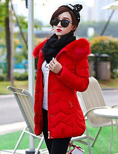Women's Patchwork Plus Size Slim Fashion Large Size  Padded Coat,Simple Hooded Long Sleeve