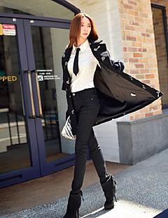 Damen Schlank Skinny Jeans Hose-Ausgehen Lässig/Alltäglich Urlaub Einfach Street Schick Punk & Gothic einfarbig Mittlere Hüfthöhe