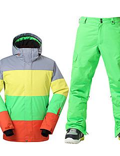 Skiklær Ski/Snowboardjakker Herre Vinterplagg Polyester VinterklærVanntett Pustende Hold Varm Vindtett Fleecefor Ultraviolet