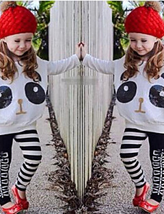 Girls' Print Sets,Cotton Polyester Spandex Spring Fall Long Sleeve Clothing Set