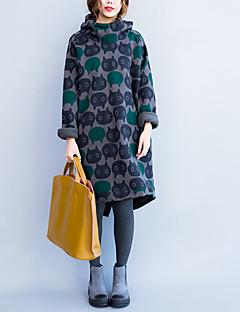 Damen Kapuzenshirt Lässig/Alltäglich Ausgehen Aktiv Street Schick Boho Solide Rundhalsausschnitt Mikro-elastisch Baumwolle LangarmAlle