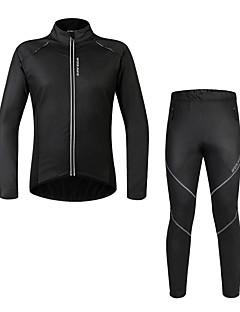 WOSAWE Unisex Dlouhé rukávy Jezdit na kole Zimní bunda Sady oblečeníVoděodolný Zahřívací Větruvzdorné Zateplená podšívka Odolné vůči