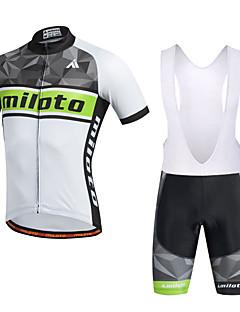 Miloto Camisa com Bermuda Bretelle Homens Manga Curta MotoCalções Bibes Camisa Pulôver Camisa/Roupas Para Esporte Tights Bib Shorts