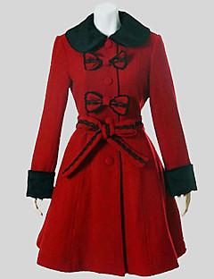 コート クラシック/伝統的なロリータ ビンテージ コスプレ ロリータドレス ゼブラプリント 長袖 ミドル丈 コート ために 羊毛