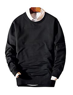 Herre Afslappet/Hverdag Simpel Sweatshirt Bogstaver Rund hals Bomuld Mikroelastisk Langærmet Alle årstider