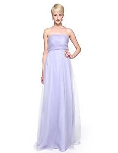 LAN TING BRIDE Floor-length Strapless Bridesmaid Dress - Convertible Dress Sleeveless Lace Tulle