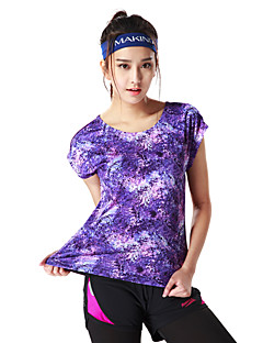 MAKINO® Women's Short Sleeve Running T-shirt Breathable Summer Sports WearCamping / Hiking Hunting Fishing Climbing Exercise & Fitness