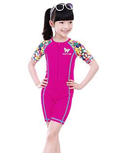 Girl Floral Floral Swimwear,Nylon Spandex