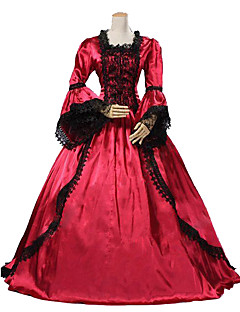 Steampunk® High Quality Marie Antoinette Renaissance Red Ball Gown Gone with the Wind Period Dress with Train Theatrical Costume