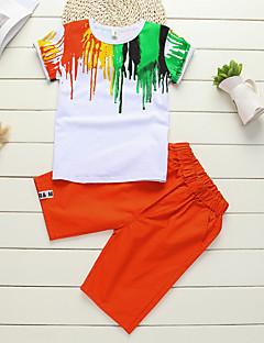 Drenge Indstiller Ferie I-byen-tøj Afslappet/Hverdag Farveblok,Bomuld Sommer Kortærmet Tøjsæt