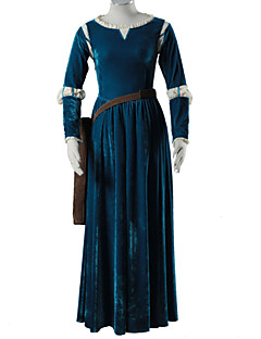 Inspired by Brave Merida Anime Cosplay Costumes Cosplay Suits Solid Long Sleeve Dress Belt Quiver For Female Kid