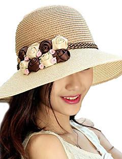kvinder sommer blomster stråhat midten randen solhatte