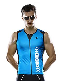 Mysenlan Gilet de Cyclisme Sans Manches Homme Sans Manches Vélo Gilet/Sans Manche Séchage rapide Respirable Polyester Mode Eté Vert Bleu