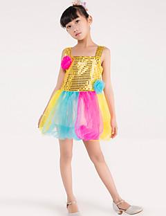 Mehetünk balett táncos ruha gyermek poliészter splicing virágok 1 db jelmez