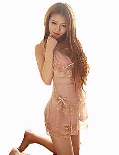 Cosplay Costumes Maid Costumes Festival/Holiday Halloween Costumes Beige Lace Carnival Female Nylon