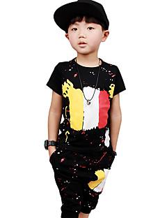 Dječaci Pamuk Print Sportske Izlasci Ležerno/za svaki dan Ljeto Kratkih rukava Setovi Komplet odjeće